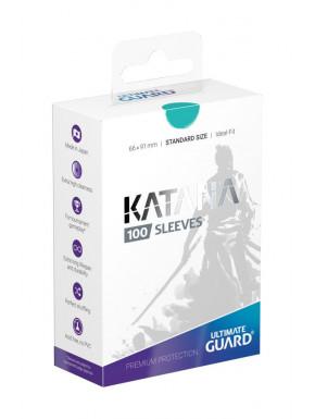 Fundas de cartas Katana tamaño estándar Ultimate Guard Turquesa