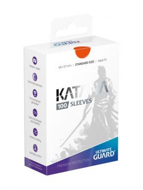 Fundas de cartas Katana tamaño estándar Ultimate Guard Naranja