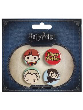 Pack Chapas Harry Potter Kawaii Personajes