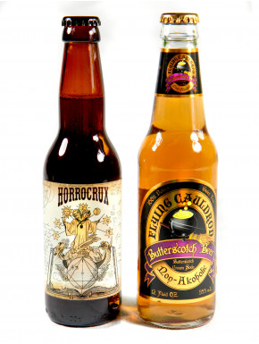 Duo de Cervezas de Mantequilla con y sin Harry Potter