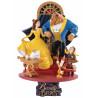 Figura Diorama La Bella y la Bestia Disney Beast Kingdom 15 cm