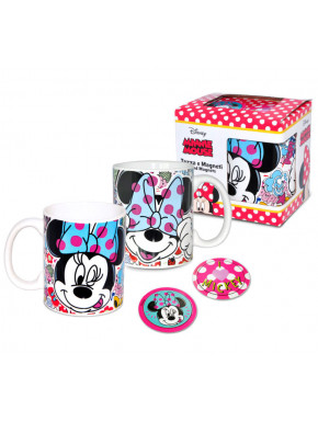 Set de Taza + Imanes Minnie Mouse Disney