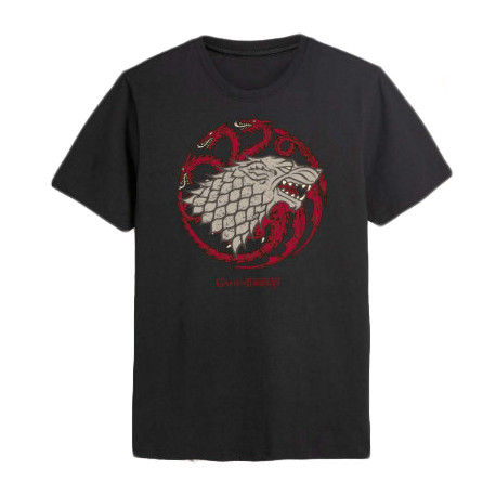 Camiseta Juego de Tronos Stark y Targaryen Emblemas
