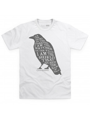 Camiseta Juego de Tronos Raven Texto