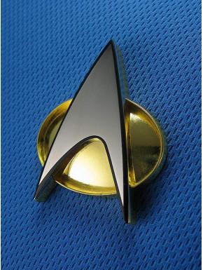 Replica 1:1Insignia de Comunicación de Star Trek
