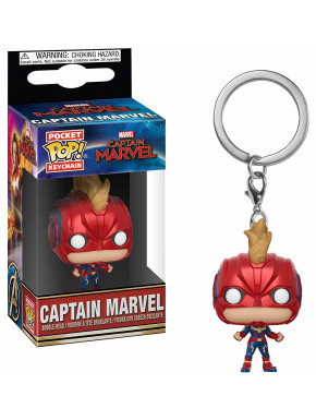Llavero mini Funko Pop! Capitana Marvel con máscara