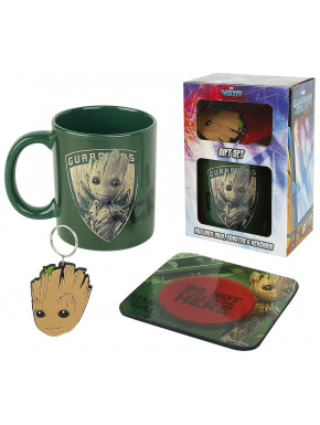 Pack regalo Groot Marvel Taza + Llavero