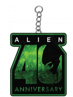 Llavero Metálico Alien 40th Aniversario