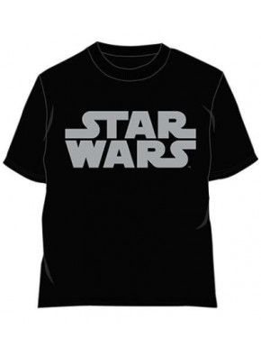Camiseta Star Wars Logo Gris