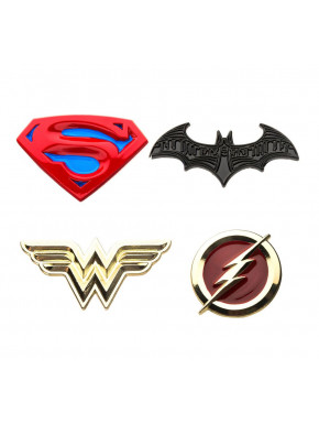 Pack de Pins Liga de la Justicia DC Comics