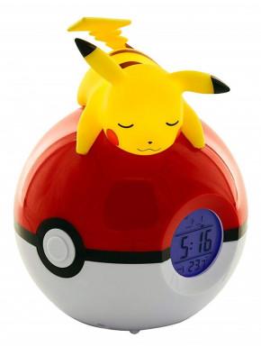 Reloj Despertador Lámpara LED Pikachu DormidoPokemon