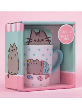 Pack de Regalo Calcetines + Taza Pusheen Sirena