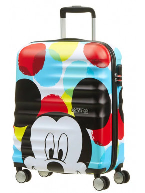 Maleta 4 Ruedas Mickey Close-Up Disney American Tourister 55 cm