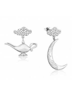 Pendientes oro blanco Lámpara & Luna Aladdin Disney