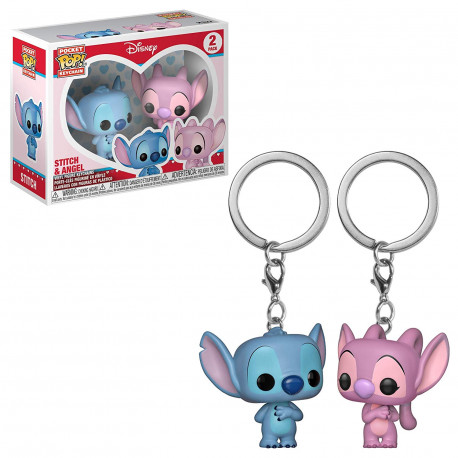Llavero mini Funko Pop! Stitch & Angel Disney