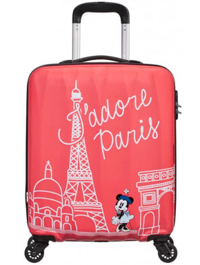 Maleta cabina Disney Minnie Paris 55 cm American Tourister 4 ruedas