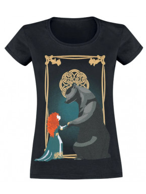 Camiseta Chica Merida & Bear Brave Disney