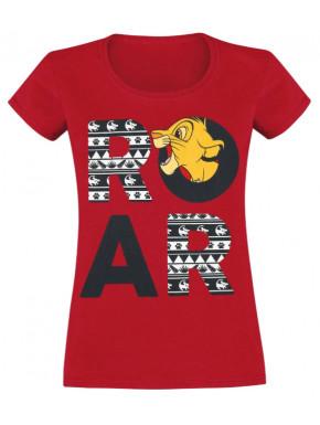 Camiseta Chica Simba Roar El Rey León Disney