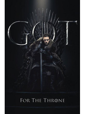 Póster Jon For The Throne Juego de Tronos