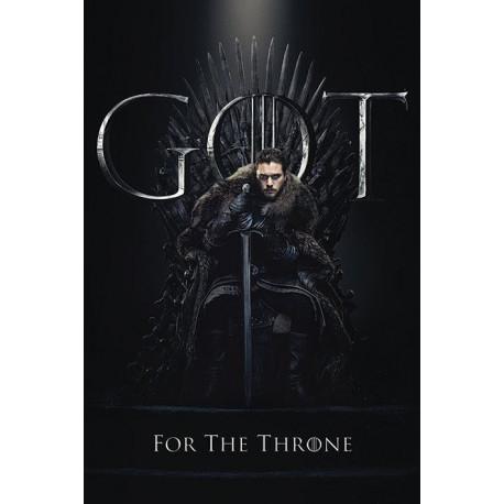 Póster Jon For The Throne Juego de Tronos