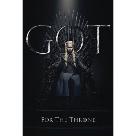 Póster Daenerys For The Throne Juego de Tronos