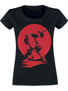 Camiseta Chica Deadpool Katana Marvel