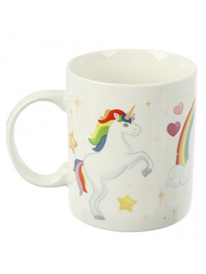 Taza Unicornio Arcoiris Kawaii
