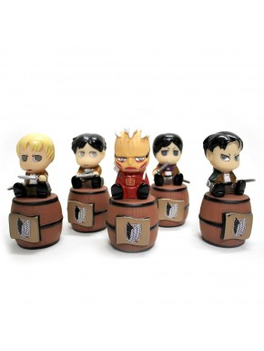 Set 5 mini Huchas Attack on Titan