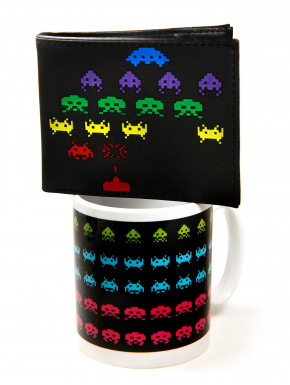 Pack Space invaders coffee & money