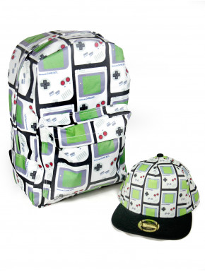 Pack Mochila y Gorra Gameboy