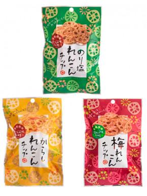 Pack Snacks de Raiz de Loto sabor Ume, Mostaza y Nori
