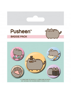 Pack Chapas Pusheen Fancy