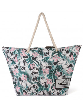 Bolso Playa Minnie Hojitas Disney