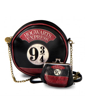 Pack Bolso bandolera y Monedero Retro Harry Potter Andén 9 3/4