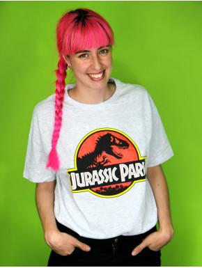 Camiseta Jurassic Park Classic Gris