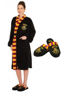 Pack Albornoz Chica y Zapatillas Harry Potter Hogwarts