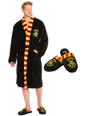 Pack Albornoz y Zapatillas Harry Potter Hogwarts
