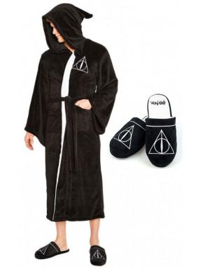 Pack Albornoz y Zapatillas Reliquias de la Muerte Harry Potter