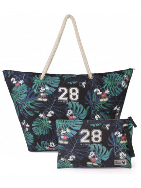 Pack Bolso Playa y Estuche Neceser Mickey Mouse