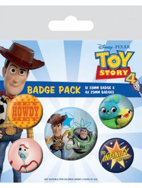 Pack de Chapas Toy Story 4 Disney Pixar