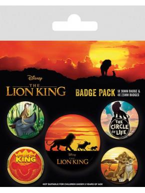 Pack de 5 Chapas El Rey León Disney
