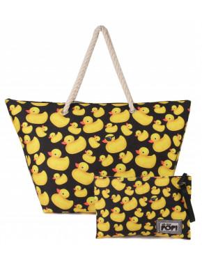 Pack Bolso Playa y Neceser OH MY POP Patitos