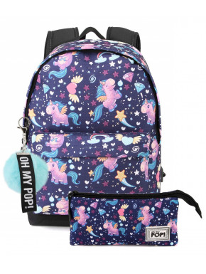 Pack Mochila y Neceser OH MY POP Unicornios