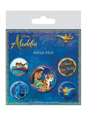 Pack de Chapas Aladdín Disney