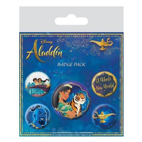 Pack de Chapas Aladdin Disney