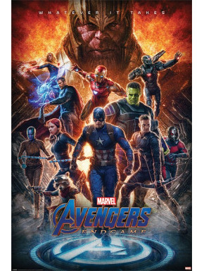 Póster Avengers Endgame Whatever It Marvel 61 x 91 cm