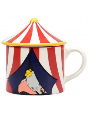 Taza con Tapa Dumbo Circo Disney