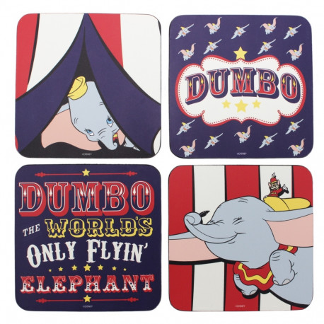 Set 4 posavasos Dumbo Disney