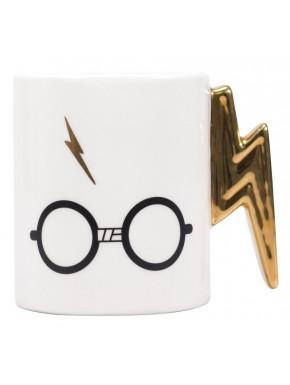 Taza Rayo Dorado Harry Potter