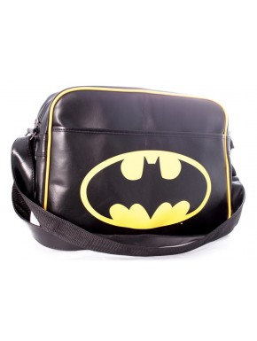 Bandolera cuero batman logo amarillo negra
